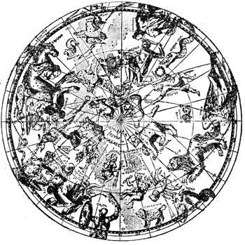Карта звездного неба с фигурами
