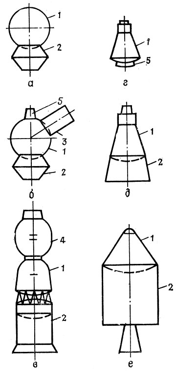 космических кораблей: а