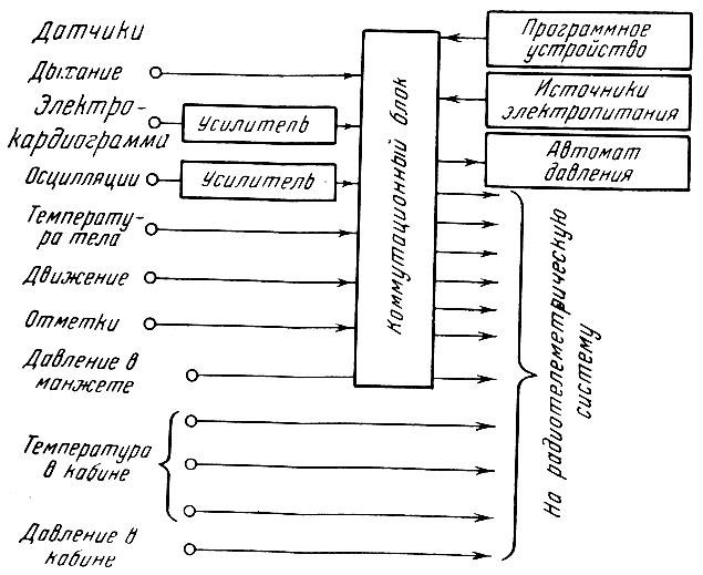 Блок-схема физиологической