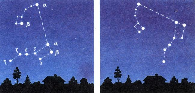 Картинки созвездия большой медведицы зимой и летом